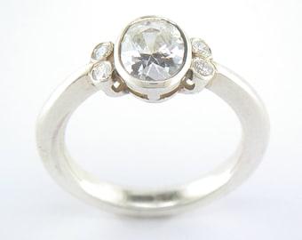 Oval Cubic Zirconia in Silver. John Fox