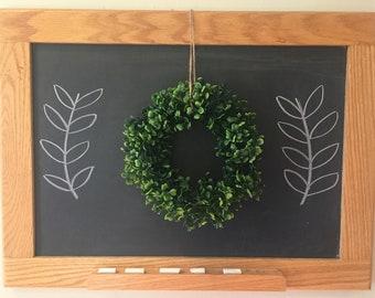 "8"" Faux Boxwood Wreath"