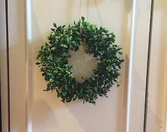 "6"" Faux Boxwood Wreath"