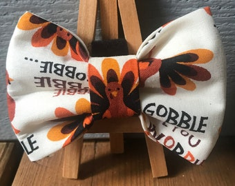 Turkey Dog Bow Tie, Gobble till you wobble