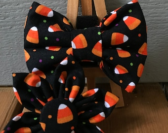 Candy Corn Madness  Halloween Dog Bow Tie  Cat Bow Tie  Pet Bow Tie