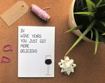 Birthday Greetings Card for Wine Lovers