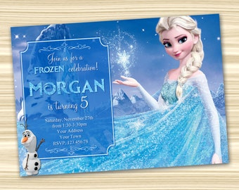 Frozen Birthday Invitation Diy Party DIGITAL FILE