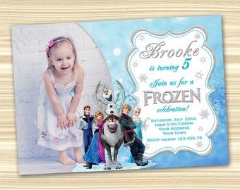 Frozen Birthday Invitation Diy Party DIGITAL FILE