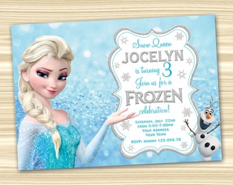 Frozen invitation etsy frozen birthday invitation frozen invitation diy frozen birthday party frozen birthday party digital file maxwellsz