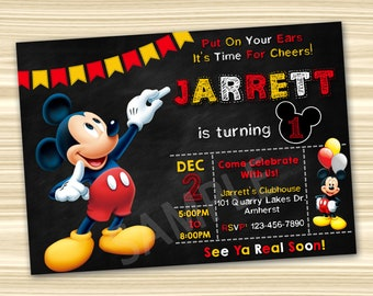 Mickey Mouse Birthday Invitations Party Invitation Printable