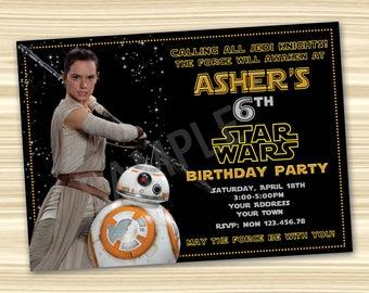 Star Wars Invitation Birthday Diy Party BB8 DIGITAL FILE