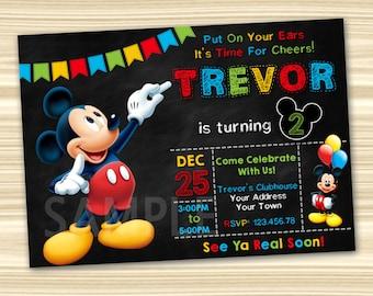 Mickey Mouse Invitations Party Invitation Printable Birthday