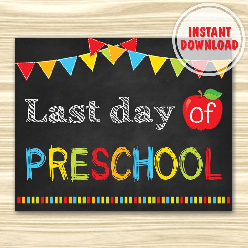 graphic regarding Last Day of Preschool Sign Printable called Remaining Working day Of Preschool Indicator. Very last Working day Of College or university Indicator Printable. Commencement Chalkboard Indication. Electronic Document. Immediate Obtain.