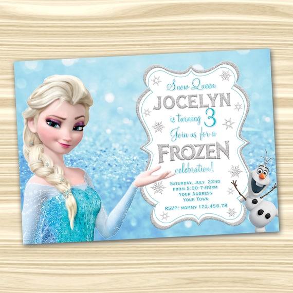 fresh frozen birthday invitation for 39 etsy frozen 2 birthday invitations
