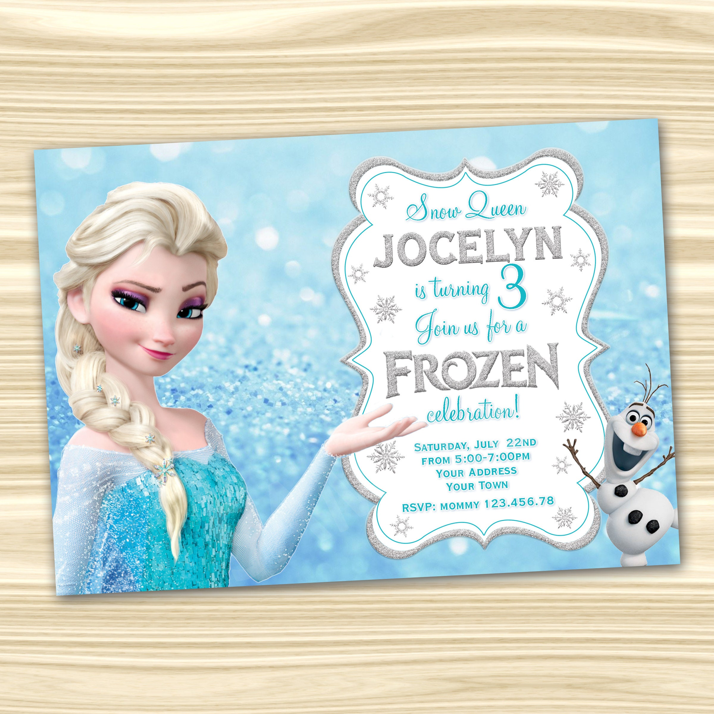frozen birthday invitation  frozen invitation  diy frozen