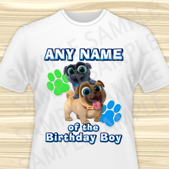 Puppy Dog Pals Any Name Of The Birthday Boy Iron On Puppy Dog Etsy