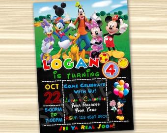 Mickey Invitation. Mickey Mouse Invitations. Mickey Mouse Party Invitation. Mickey Mouse Printable. Mickey Birthday Party