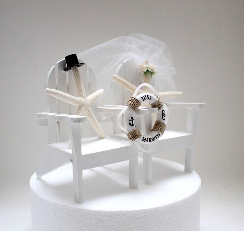 c547f17c265acd Starfish Wedding Cake Topper. Beach Wedding Top Hat Wedding