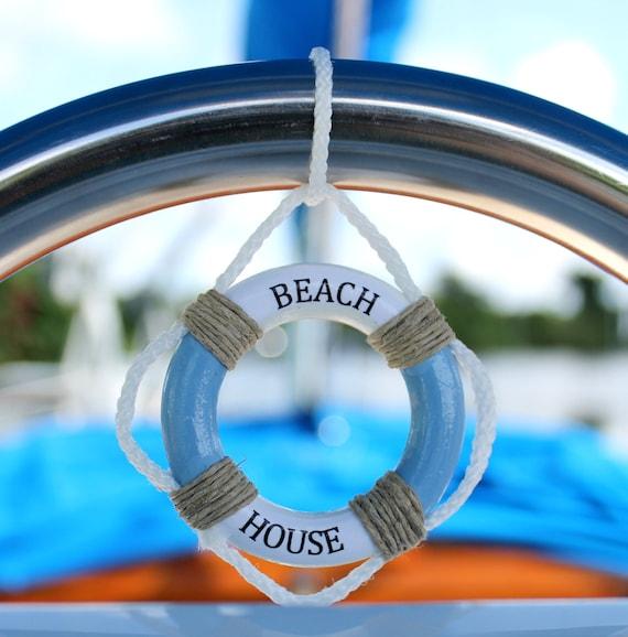 Beach House Sign Mini Life Preserver Wall Decor Nautical | Etsy