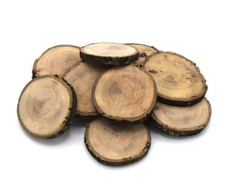 Wooden rings for olive wood decoration - 55/60mm - '70/80mm unvarnished' in batches of 5 units