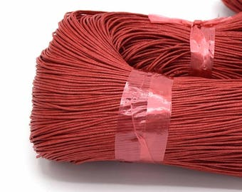 Waxed cord 1 mm red - Waxed cord 1 mm red set of 5/10/20 meters