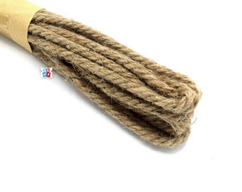 X4.96 meters of 5 mm camel color hemp twine