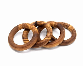 Natural olive wood ring handmade organic matte diam. 50mm ref AB201601 individually and as a set of 4