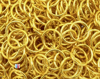 500 Golden Junction Rings - 6mm /5mm/4mm ep. 0.7