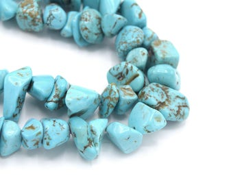 Natural turquoise chips beads gemstones - Natural turquoise chips stone gemstones pearls-