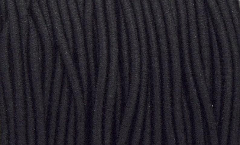 x 10 metres of round elastic cord 2mm black C11
