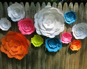 Big Paper Flowers Etsy