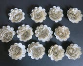 s Book page roses, set 12 paper flowers, Recycled Classic Novel, 1.5 quot blooms, Rustic wedding decorations, Fun library decor, librarian gift