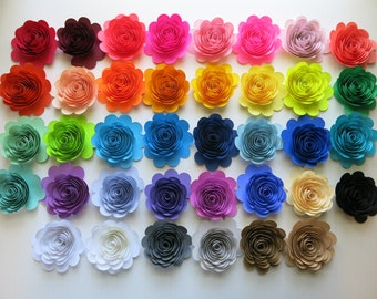 Paper flower etsy more colors custom quantity and color paper flowers mightylinksfo