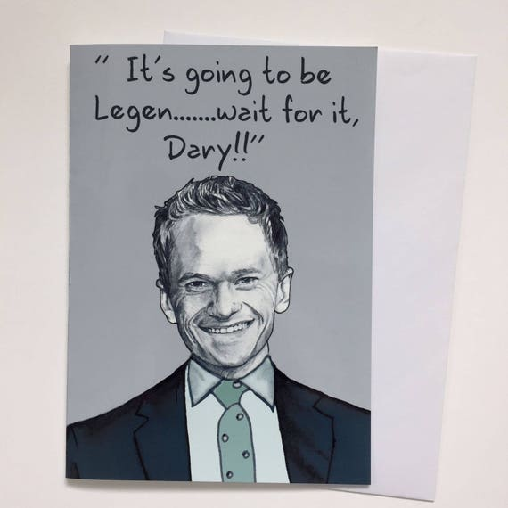 Barney Stinson Himym Illustrative A5 Card Etsy