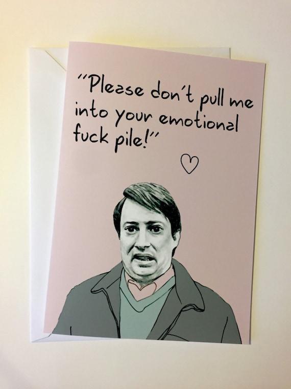 Peep Show Illustrative A5 Valentines Card Mark Etsy