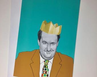 Kevin Malone//Brian Baumgartner Illustrative A5 Birthday Card