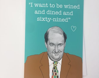Kevin Malone//Brian Baumgartner Illustrative A5 Valentines Card