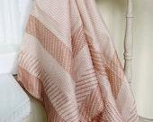 Peach neck scarf handkerchief silk pattern purse hair-tie heart fresh gifts-for-her travel honeymoon beach summer accessory retro vintage