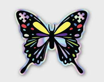 Autism Awareness Holographic Sticker