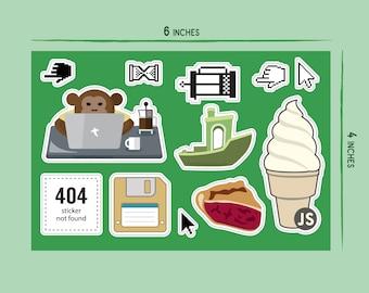 Tech, 5x7 Vinyl Sticker Sheet