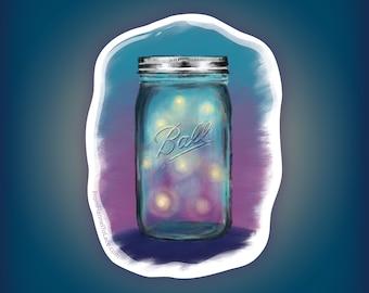 Fireflies in a Ball Jar, Sticker