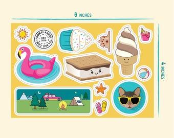 Summer Fun, 5x7 Vinyl Sticker Sheet