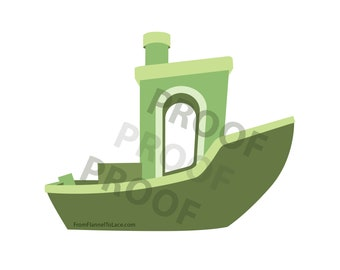 Benchy Vector, Downloadable .png & .svg