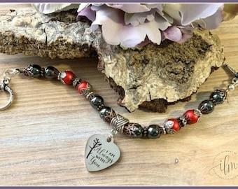 Always with you bracelet, angel spirit jewelry, cardinal memorial bracelet, remembrance jewelry, cardinal sympathy jewelry, in memory of