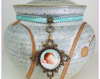 Funeral urn jewelry, decorate your cremation urn, urn corsage, urn ornament, URN NOT INCLUDED, urn photo ornament, ashes urn decoration