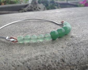 Faux Jade Beaded Bracelet