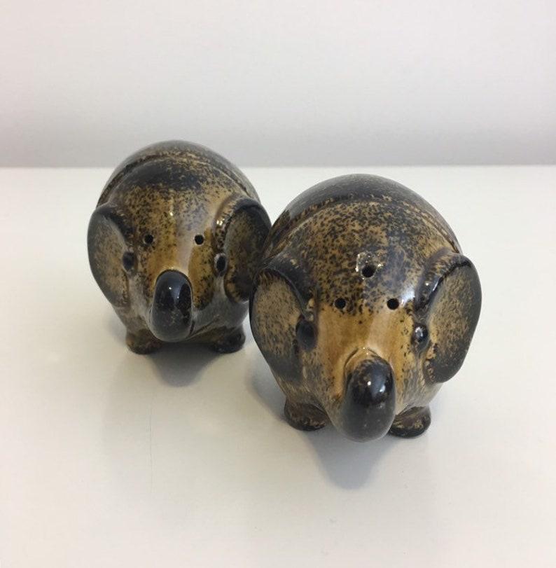 Vintage Ceramic Elephant Salt and Pepper Shakers