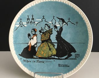 Retro Norman Rockwell Collector's Plate