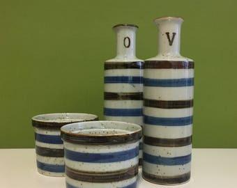 Vintage Ceramic Oil and Vinegar Dispensers