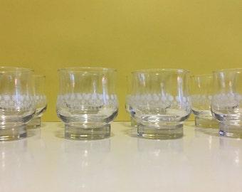 Vintage Dominion Glass Juice Glasses