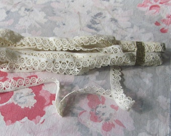 French lace edging ca 1900 original package approx. 12 yards