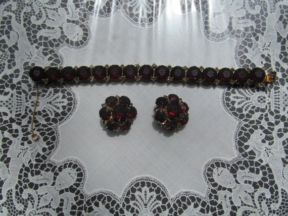 KRAMER BRACELET and EARRINGS set 1950s