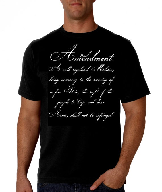 2ND AMENDMENT BLACK T SHIRT NEW