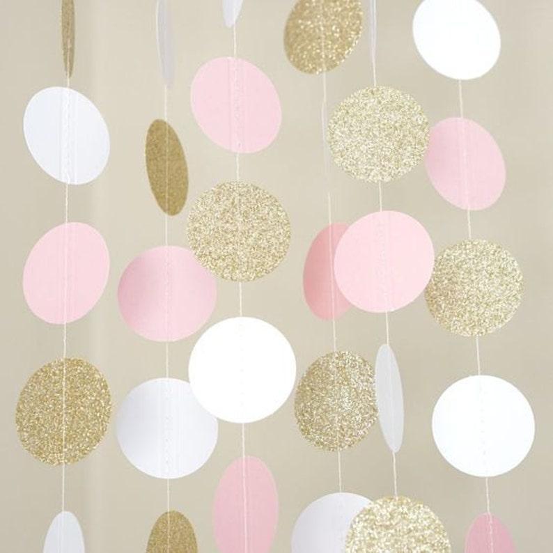8238db8aecea Pink and Gold Garland Paper Garland Bridal Shower
